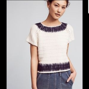 Anthropologie Field Flower Cropped Sweated